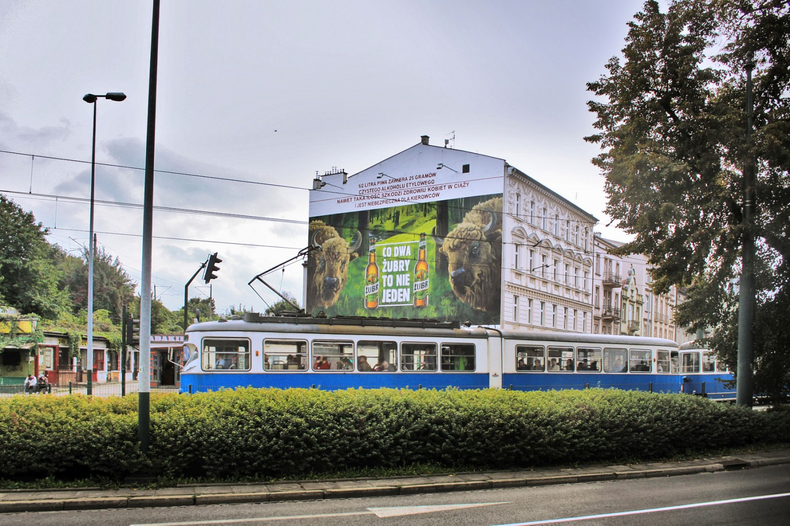 Zubr beer large format advertisement in Cracow Every two Zubr are better than one | Every two Zubr are better than one | Portfolio
