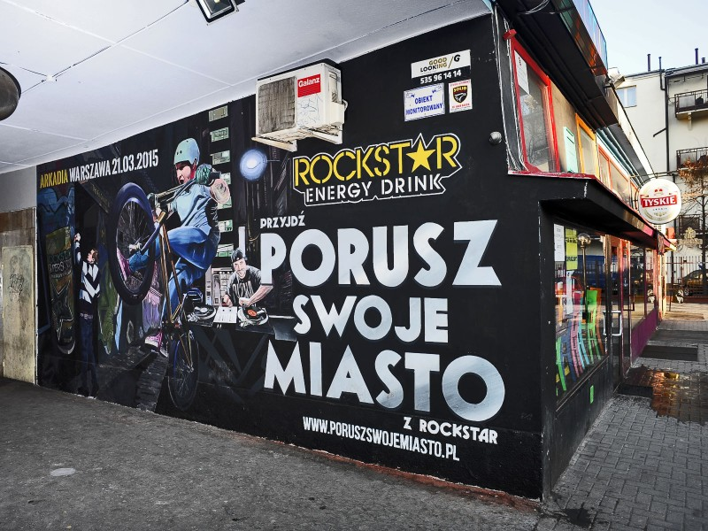 Rockstar Super Sours Energy Drink Paint a thing in Warsaw pavilions | Paint a thing / Move the city | Portfolio