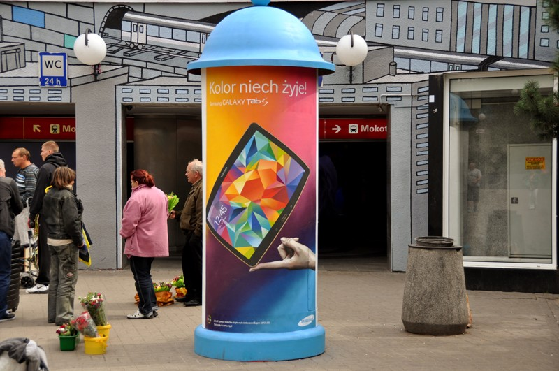 Samsung mural Long live color Centrum subway station in Warsaw | Long live color! | Portfolio