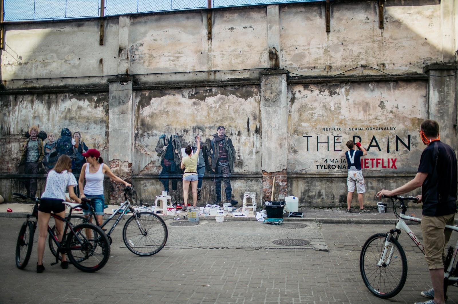 Tytano: Kraków's Urban Lifestyle Complex ad in the form of a wall mural | The Rain  | Portfolio