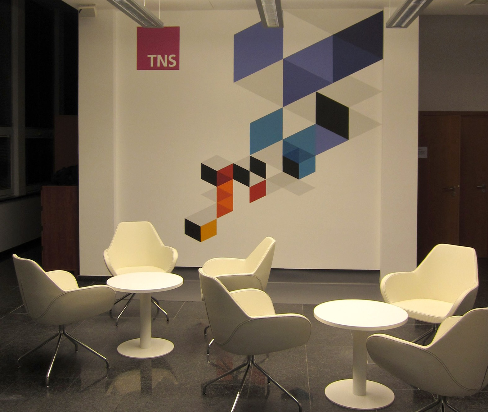 Wall Design Rezeption TNS Polska in Warschau | Rezeption | Portfolio