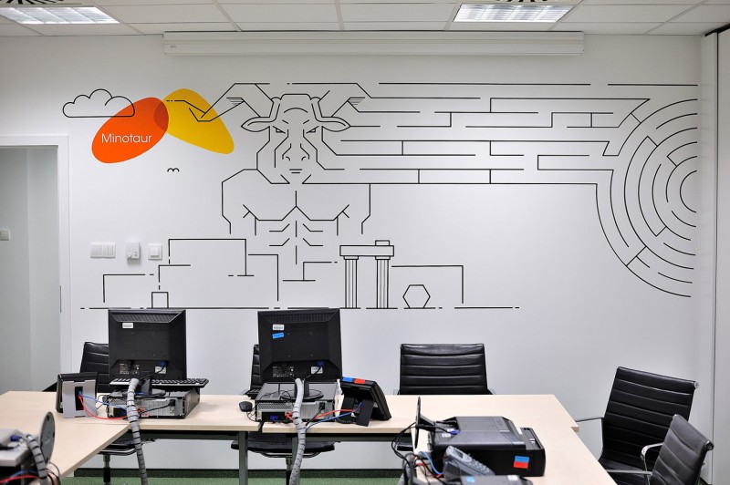 Wall design Provident call center in Warsaw | Headquarters and Call Center | Portfolio
