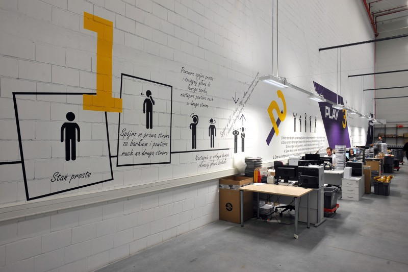 Play warehouse interior in Warsaw | Warehouse interior | Portfolio