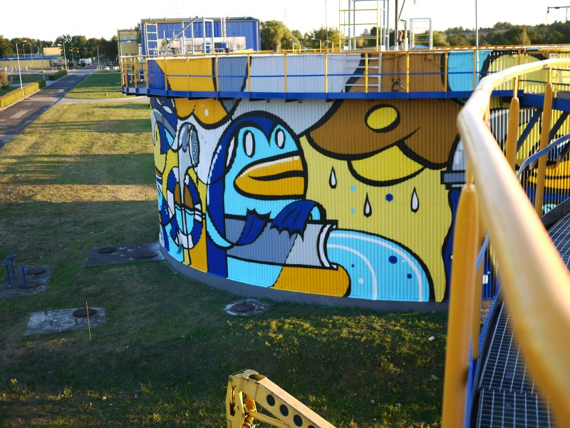 Graffiti in Czestochowa Treatment Plant Warta | Treatment Plant | Portfolio