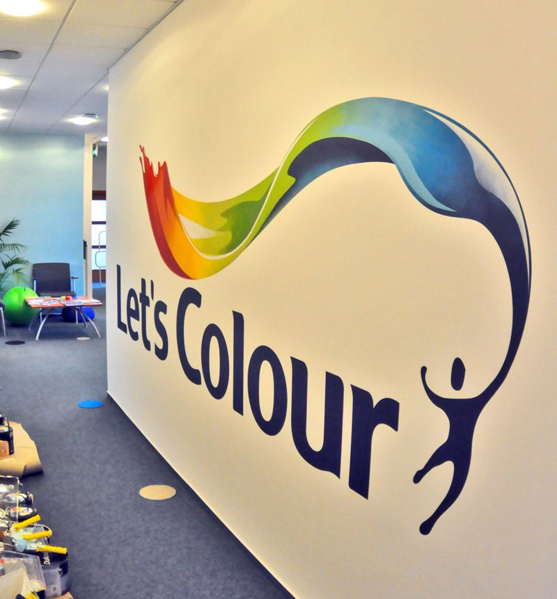 Company logo in AkzoNobel Poland Factory Let's colour Dulux | AkzoNobel Factory | Portfolio