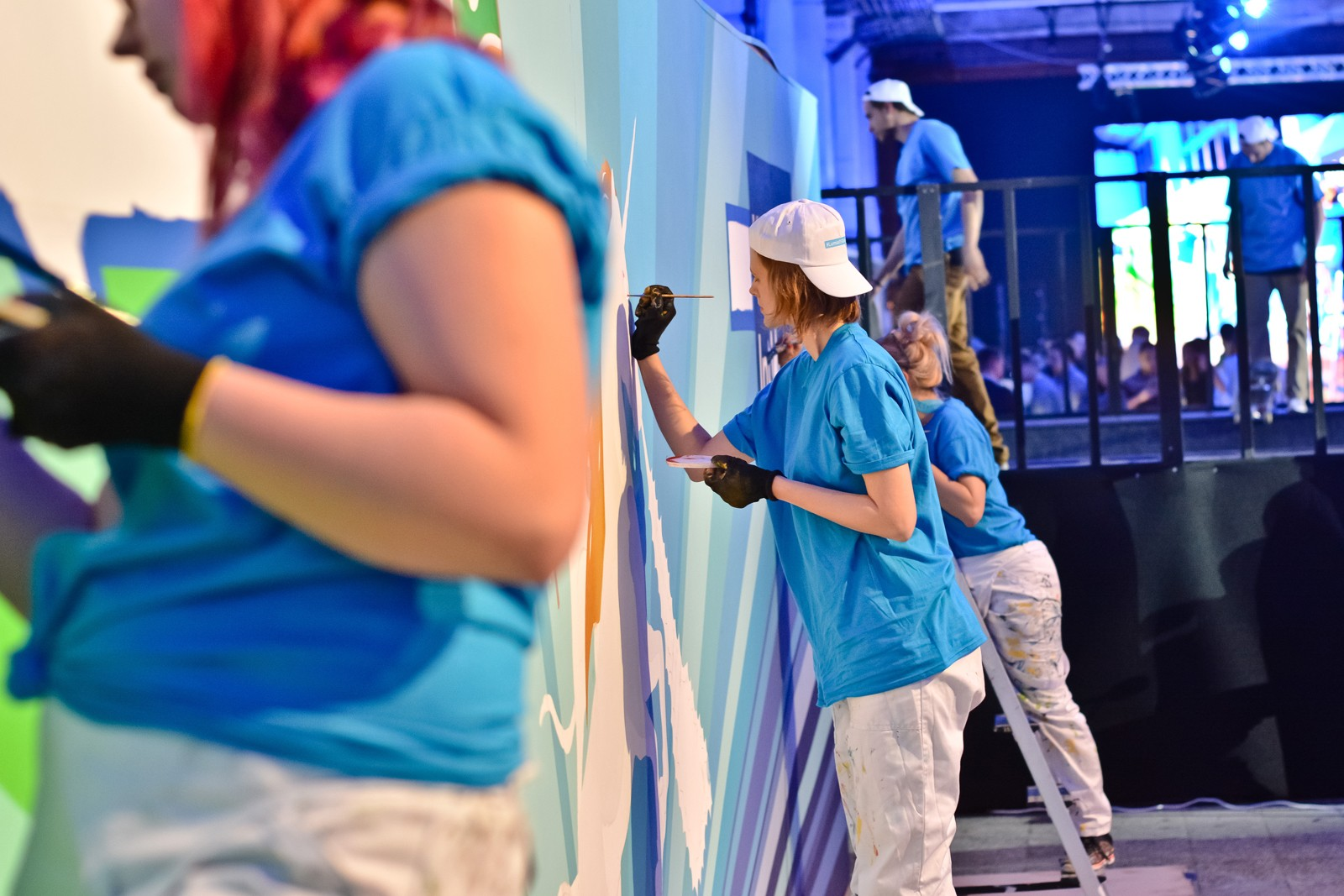 Live painted mural at the Microsoft event in Soho Factory in Warsaw | Lumia 950 launch | Portfolio