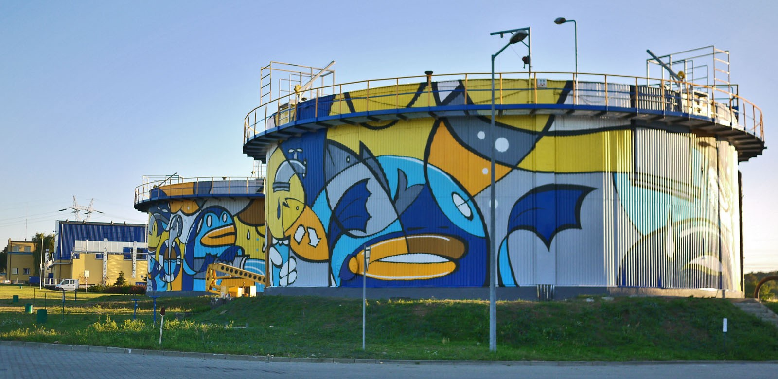 Artistic painting on Treatment Plant Warta in Czestochowa | Treatment Plant | Portfolio