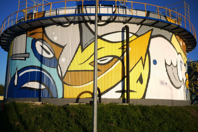 Creative painting on Treatment Plant Warta | Treatment Plant | Portfolio