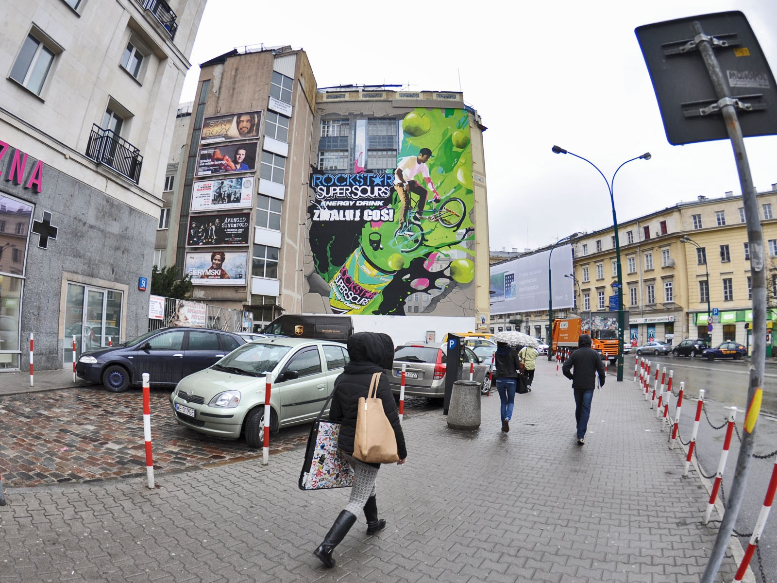 Rockstar Super Sours Energy Drink mural Paint a thing in Warsaw Downtown Bracka street | Paint a thing / Move the city | Portfolio