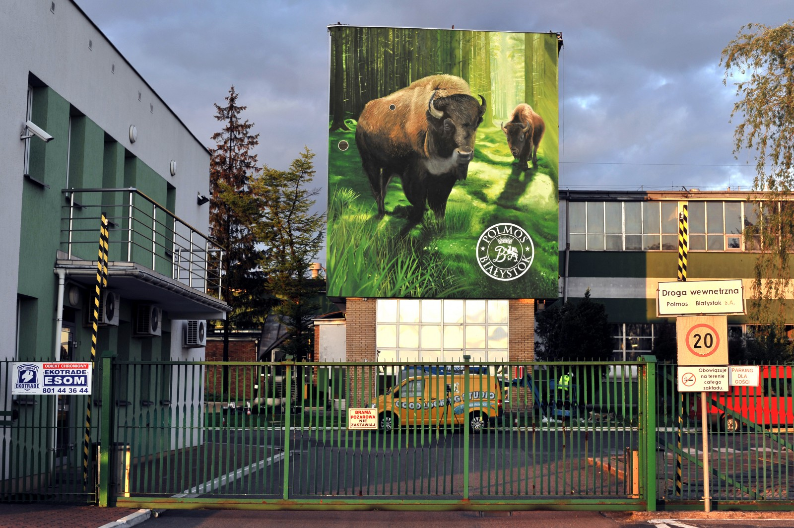 mural of Zubrowka in Bialystok on Polmos factory | Zubrowka | Portfolio