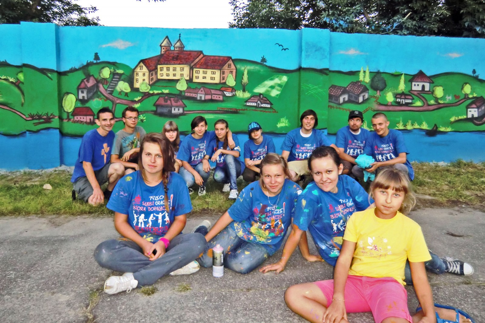 Mural at sport facilities in Czerwinsk upon Vistula river | Czerwinsk on the Vistula | CSR | About us