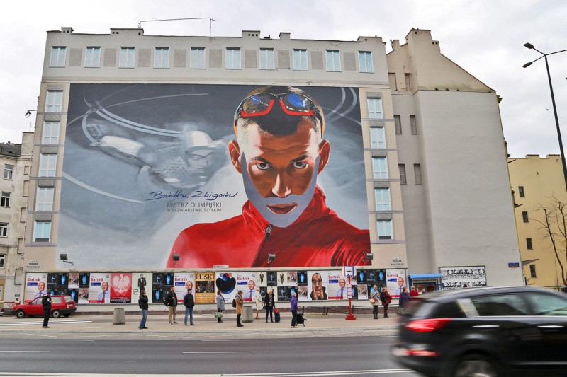 Large format mural near Politechnika subway station in Warsaw Zbigniew Brodka for Zelmer reliable | Smooth ride Zbigniew Brodka | Portfolio
