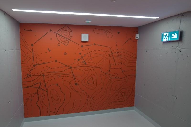 Project painted by polish artists in Proximo office building resembling a constellation | PROXIMO | Portfolio