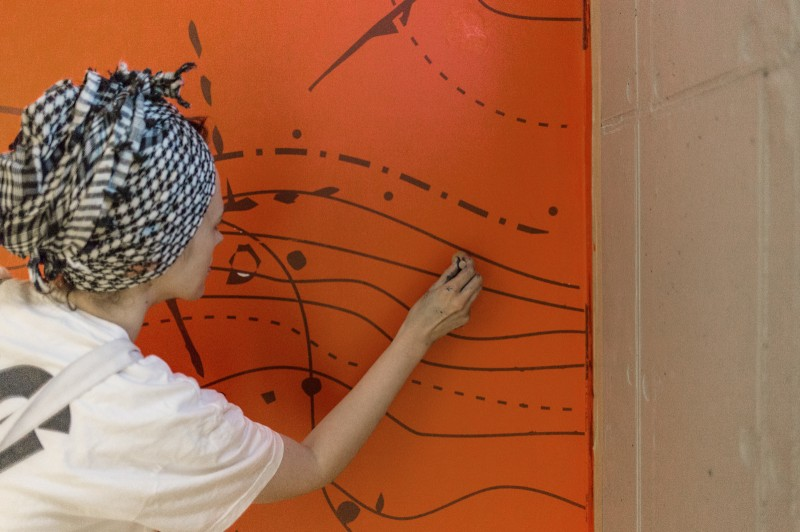 Painting a constellation on a staircase wall | PROXIMO | Portfolio