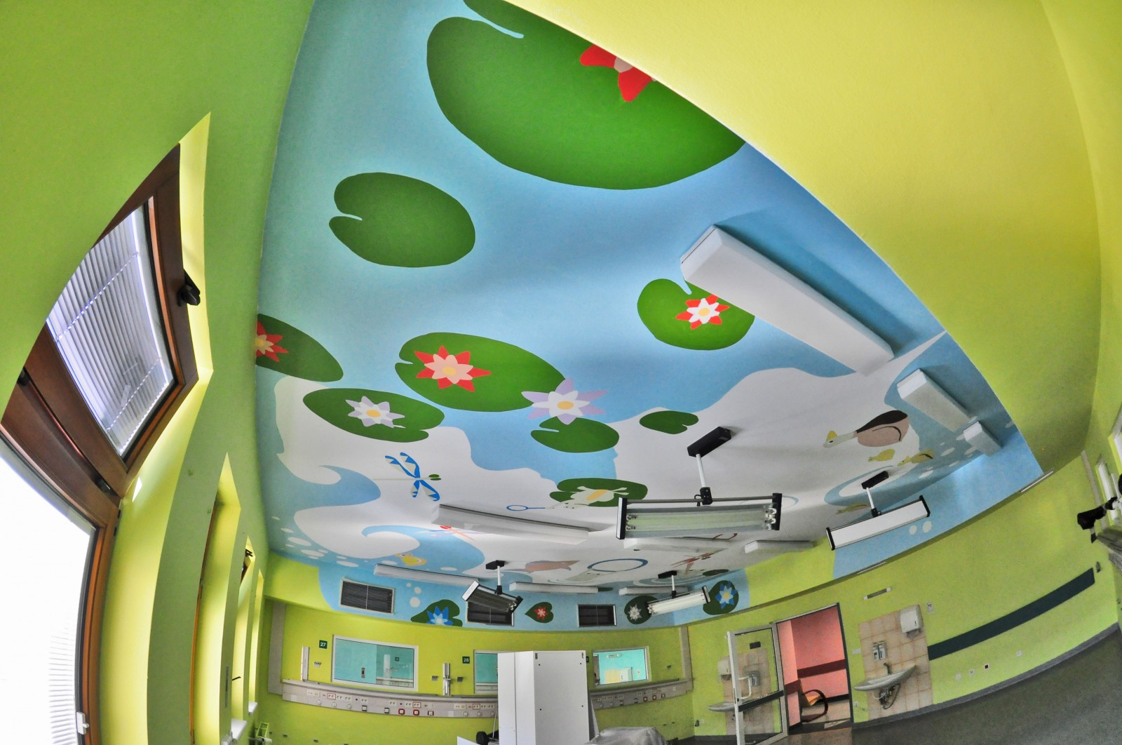 Repainted ceiling in The Children's Memorial Health Institute in Warsaw Ceiling Operation | Ceiling Operation - The Children's Memorial Health Institute | CSR | About us