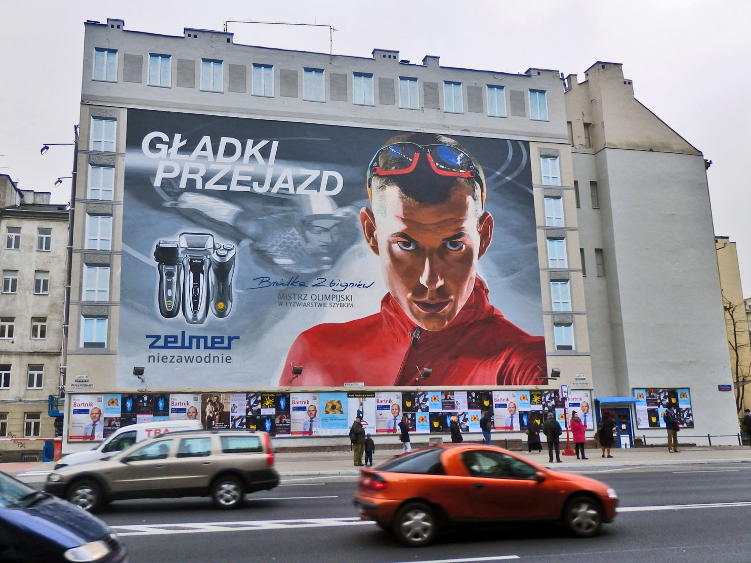 Advertising mural Zelmer Smooth ride Zbigniew Brodka in Warsaw Polna street Centrum subawy station | Smooth ride Zbigniew Brodka | Portfolio