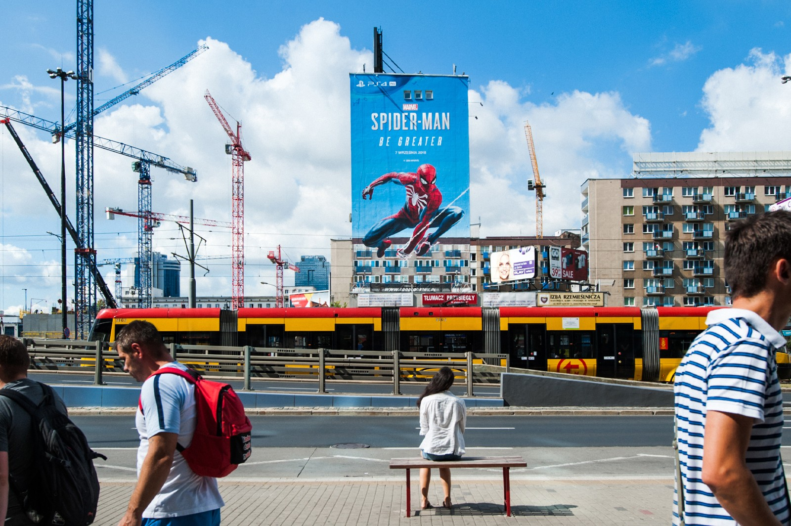 spiderman be greater on chmielna street in Warsaw | SPIDER-MAN BE GREATER | Portfolio