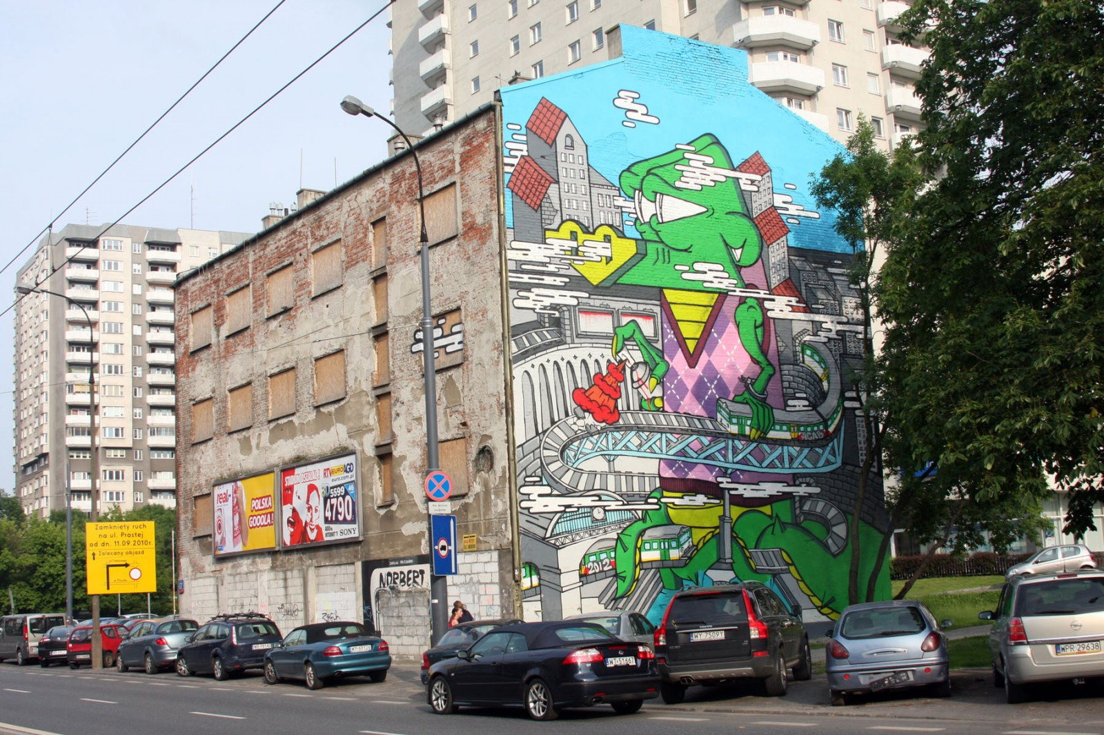 Wolska street in Warsaw painting Crocodile | Crocodile | Backstage
