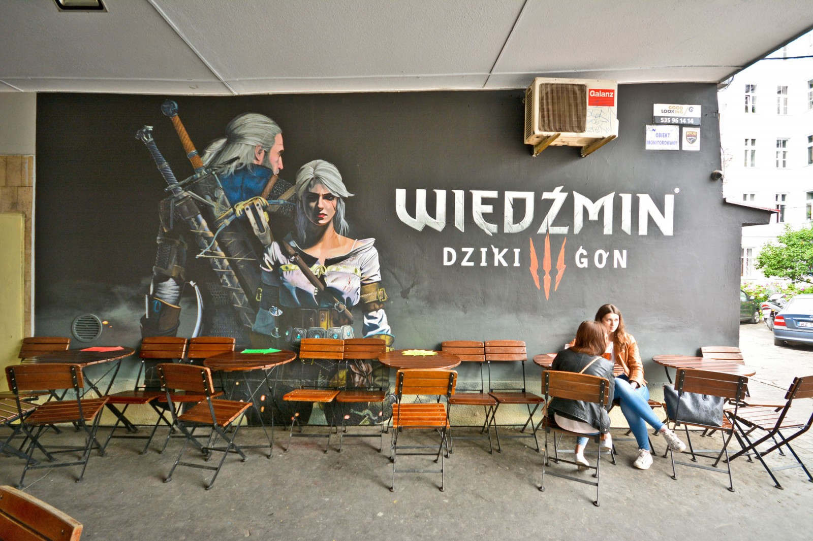 The Witcher Wild Hunt advertising mural on the pavilions wall in Warsaw | The Witcher Wild Hunt | Portfolio