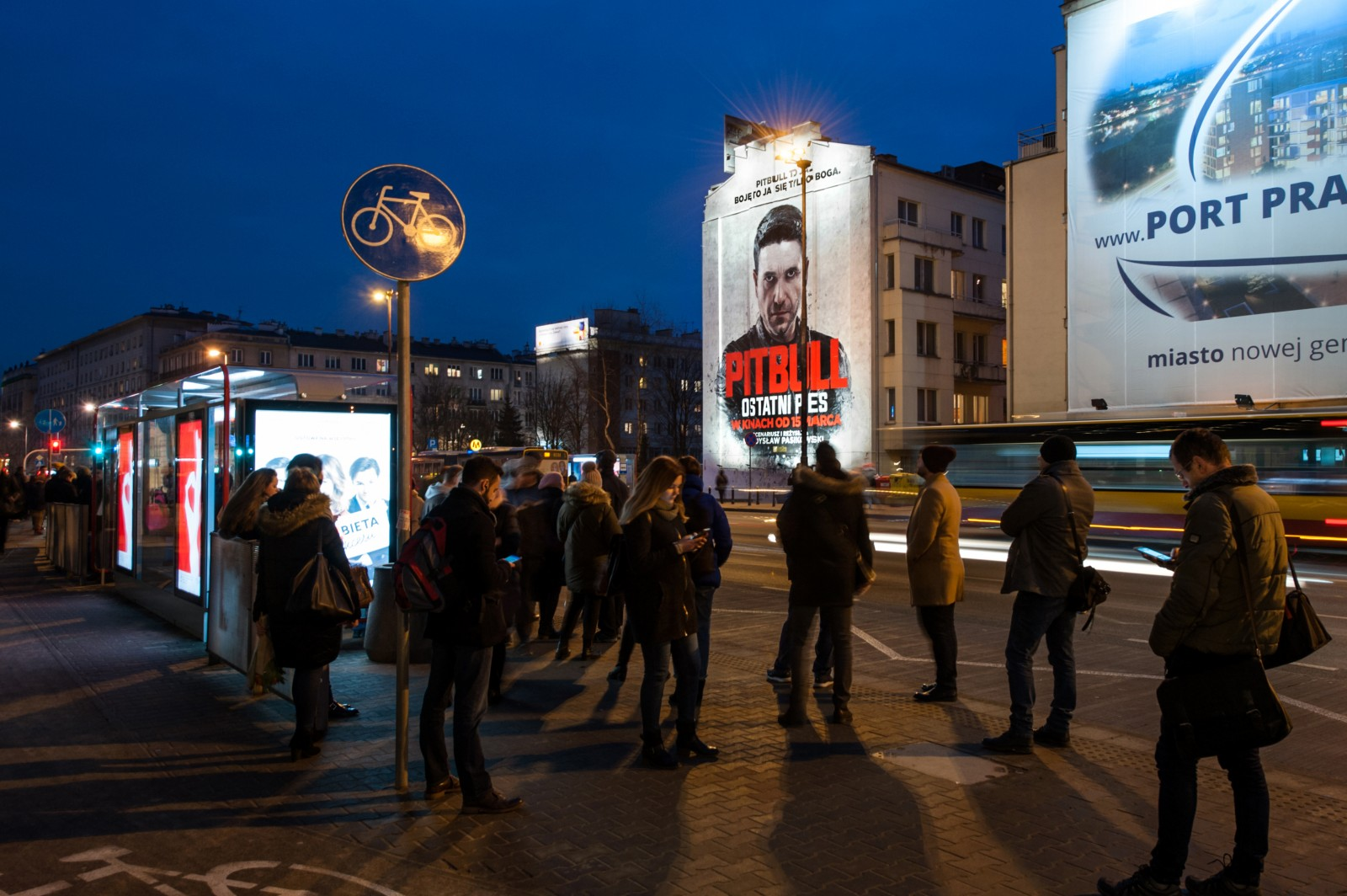 An advertising mural on ludwika warynskiego in warsaw painted for filmmaker pitbull | Pitbull. Ostatni pies | Portfolio