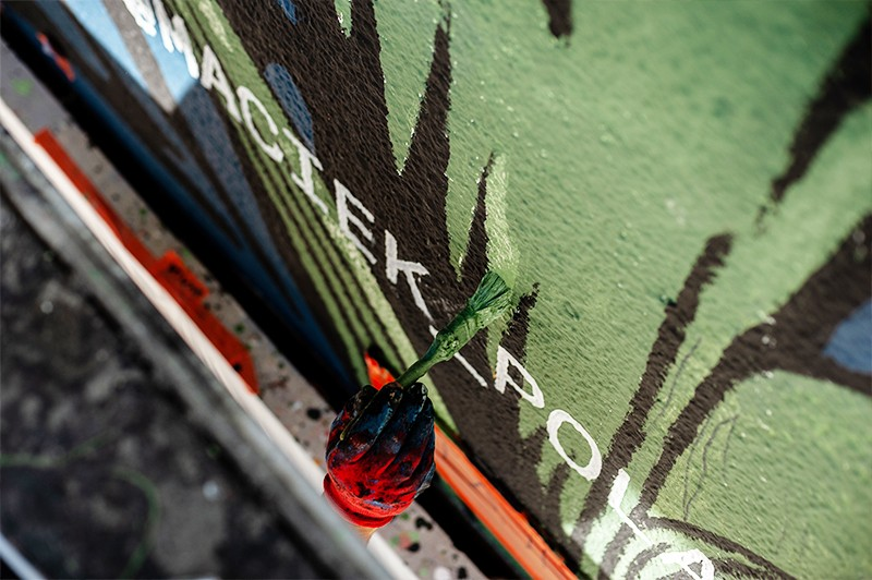 Artistic mural for Converse in Warsaw | CREATE TOGETHER FOR TOMORROW | Portfolio