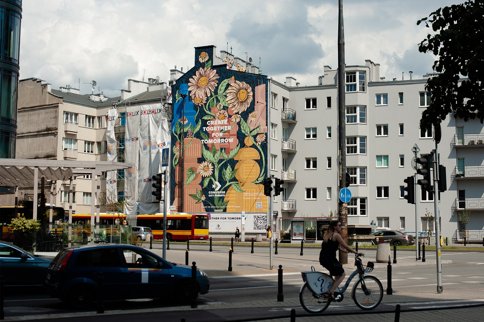 Artistic Converse mural in Warsaw | CREATE TOGETHER FOR TOMORROW | Portfolio
